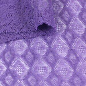 Трикотаж вискоза ажурный фиолетовый