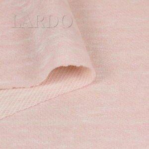 Футер трикотаж хлопок розовый меланж