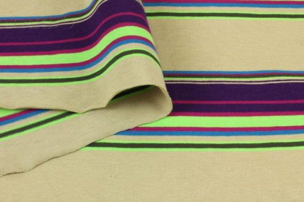 Трикотаж хлопок в разноцветную полоску