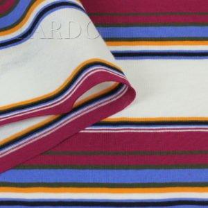 Трикотаж хлопковый в разноцветную полоску