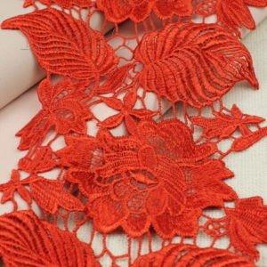 Кружево красное шир. 14 см