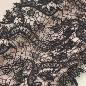 Кружево чёрное шир. 19 см