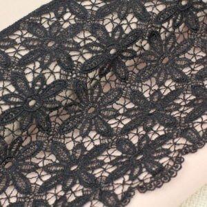 Кружево чёрное шир. 13,5 см
