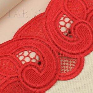 Кружево красное шир. 9 см