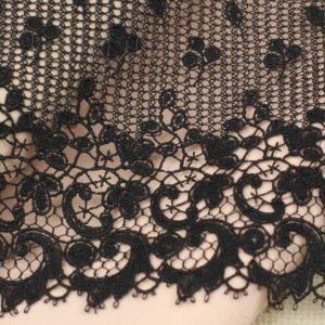 Кружево чёрное шир. 23 см
