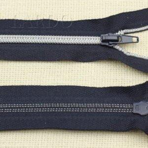 Молния разъёмная, металлизированная, однозамковая, 80 см, №5, тёмно-синяя