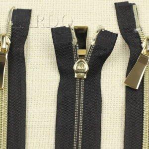 Молния KEE разъёмная, металлизированная, двухзамковая, 100 см, №5, чёрная