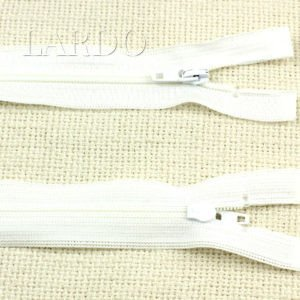 Молния разъёмная, однозамковая, 45 см, №3, белая