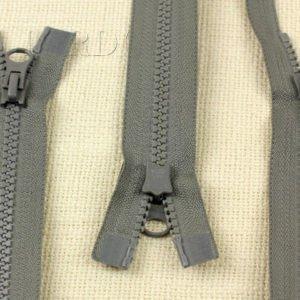 Молния YKK VISLON ТРАКТОР, разъёмная, двухзамковая, 54 см, №5, серая