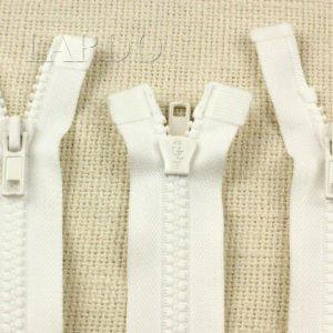 Молния UNIZIP ТРАКТОР разъёмная, двухзамковая, 47 см, №5, белая