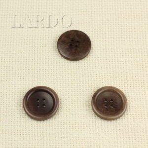 Пуговица пластик ∅ 2,5 см светло-коричневая