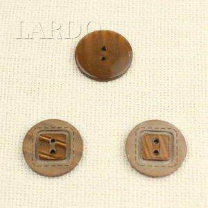 Пуговица пластик ∅ 3,0 см светло-коричневая