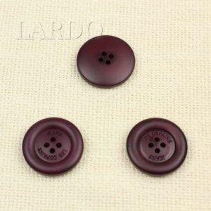 Пуговица бордовая пластик ∅ 3,0 см