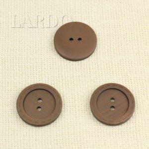 Пуговица пластик ∅ 3,0 см коричневая
