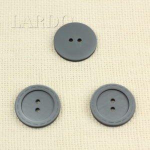 Пуговица пластик ∅ 3,0 см серого цвета