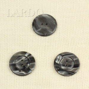 Пуговица пластик ∅ 3,0 см серая перламутровая