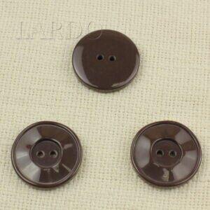 Пуговица пластик ∅ 3,4 см коричневая