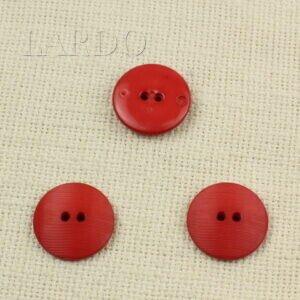 Пуговица пластик ∅ 2,6 см красная