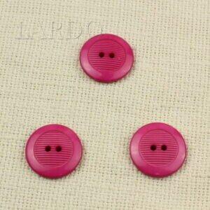 Пуговица пластик ∅ 2,7 см тёмно-розовая