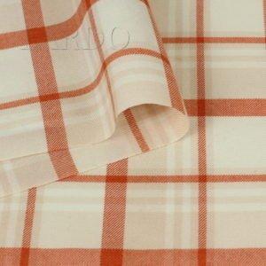 Шерсть костюмная оранжевая клетка
