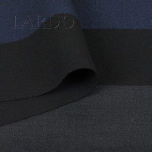 Костюмная вискоза стретч двухсторонняя в полоску/чёрная