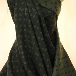 Шерсть костюмная Vergine тёмно-зелёная квадратики