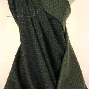 Шерсть костюмная Vergine тёмно-зелёная