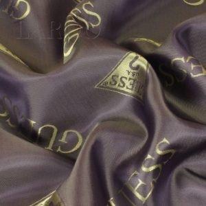 Подкладочная ткань жаккард шанжан лиловая Guess