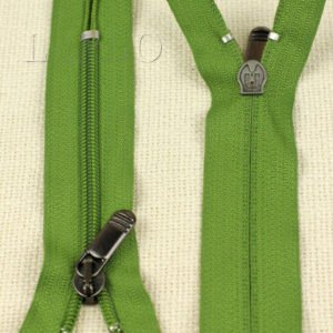 Молния UNIZIP неразъёмная, однозамковая, 13 см, №5, зелёная