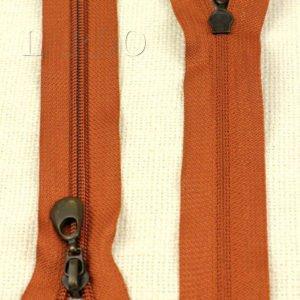 Молния неразъёмная, однозамковая, 18 см, №5, рыжая