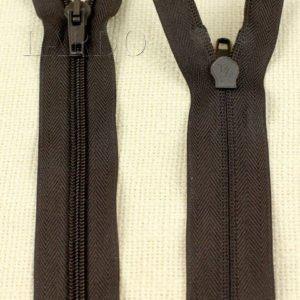Молния UNIZIP неразъёмная, однозамковая, 25 см, №5, коричневая