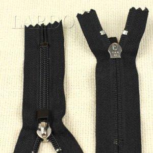 Молния YKK неразъёмная, однозамковая, 10 см, №5, чёрная