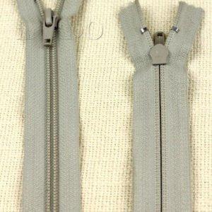 Молния YKK неразъёмная, однозамковая, 25 см, №5, серая