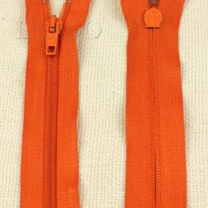 Молния неразъёмная, однозамковая, 16 см, №5, оранжевая