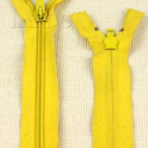 Молния неразъёмная, однозамковая, 21 см, №5, жёлтая