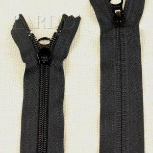 Молния YKK неразъёмная, однозамковая, 22 см, №5, чёрная