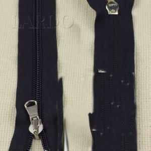 Молния OPTI неразъёмная, однозамковая, 22 см, №5, тёмно-синяя