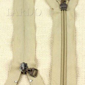 Молния ПОТАЙНАЯ LAMPO, неразъёмная, однозамковая, 28 см, №5, бежевая