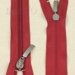 Молния GYM ELLE DUE неразъёмная, однозамковая, 17 см, №5, бордовая