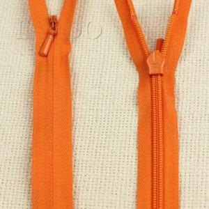 Молния ПОТАЙНАЯ YKK неразъёмная, однозамковая, 70 см, №3, оранжевая