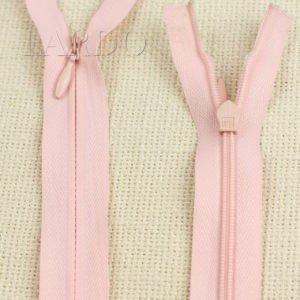 Молния ПОТАЙНАЯ OPTI неразъёмная, однозамковая, 70 см, №3, розовая