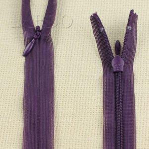 Молния ПОТАЙНАЯ YKK неразъёмная, однозамковая, 65 см, №3, фиолетовая