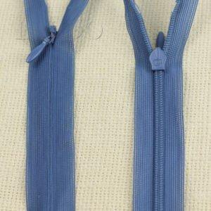 Молния ПОТАЙНАЯ UNIZIP неразъёмная, однозамковая, 60 см, №3, синяя