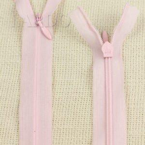 Молния ПОТАЙНАЯ КСС неразъёмная, однозамковая, 60 см, №3, розовая