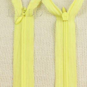 Молния ПОТАЙНАЯ неразъёмная, однозамковая, 60 см, №3, жёлтая