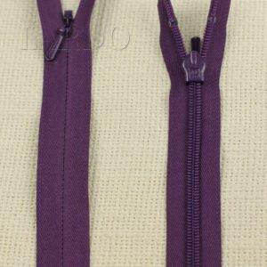 Молния ПОТАЙНАЯ неразъёмная, однозамковая, 60 см, №3, фиолетовая
