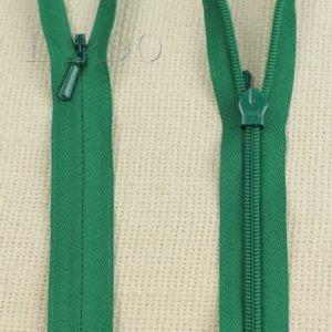 Молния ПОТАЙНАЯ YKK неразъёмная, однозамковая, 60 см, №3, зелёная