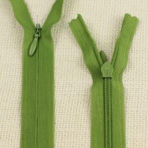 Молния ПОТАЙНАЯ UNIZIP неразъёмная, однозамковая, 60 см, №3, зелёная