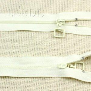 Молния разъёмная, однозамковая, 43 см, №3, белая