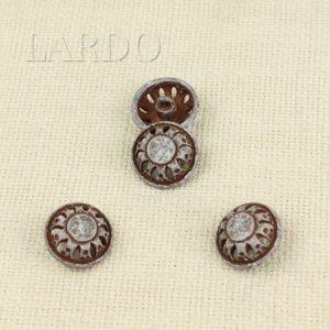 Пуговица герб-лев металл ∅ 1,6 см никель матовый